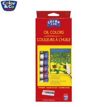 Color & Co Oil Colours (12 Colours x 12ml)