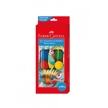 Faber Castell Watercolour Cake (12 colours)