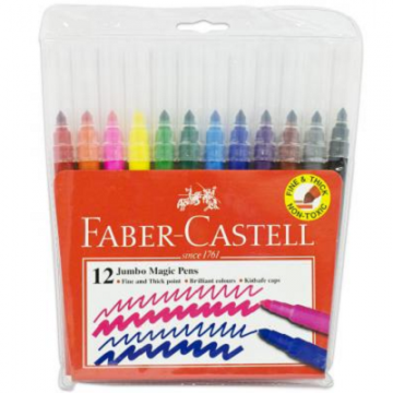 Faber Castell Jumbo Magic Pens (12 colours)