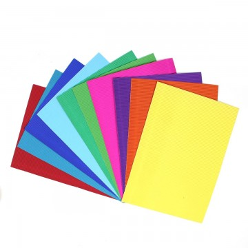 Coloured Corrugated Paper & Strips