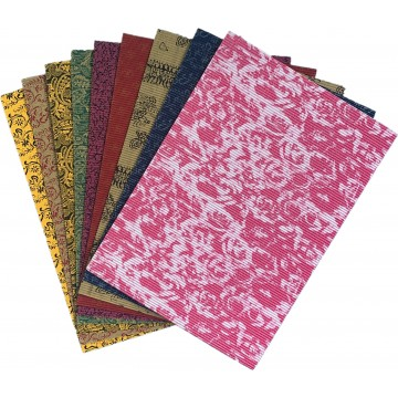 Coloured Pattern Corrugated Paper A4 (10 pieces/packet)