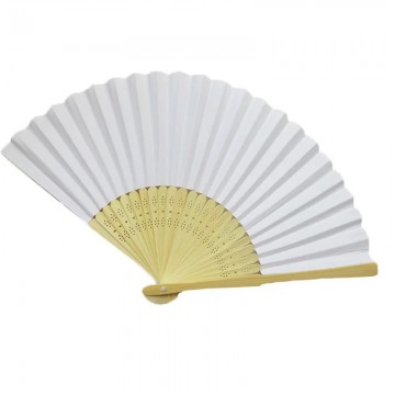 White Paper Fan 21cm Length