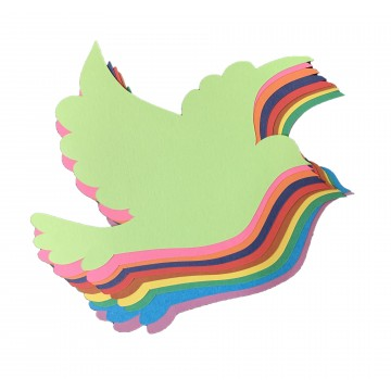 Flying Dove Cutout Construction Paper 135gsm (10 sheets/packet)