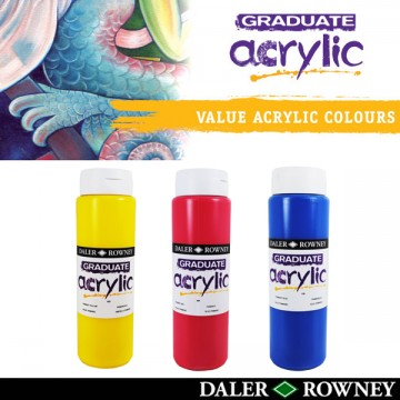 Daler Rowney Graduate Acrylic Colour 500ml