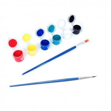 Acrylic Paint Pod (6 colours/set with 2 brushes)