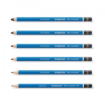 Staedtler Drawing Pencil (HB, 2B, 3B, 4B, 5B, 6B, 8B)