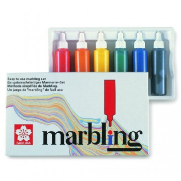 Japan Water Based Marbling Set (6 colours x 12ml)