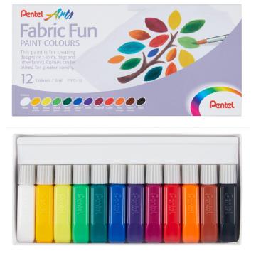 Pentel Fabric Fun Paint Colours (12 colours)
