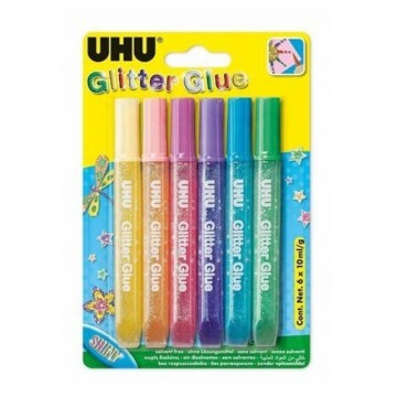 UHU Glitter Glue (6 x 10ml)