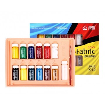 Chin Joo Water Soluble Glass Paint Set (12 colours x 20ml)