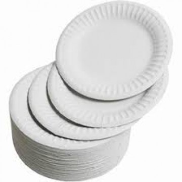 White Paper Plates (50 pieces/packet)