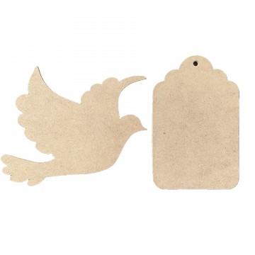 MDF Board Designs Cutout (Flying Dove/Door Hanger)