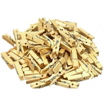 Plain Wooden Peg (3 dozen/packet)